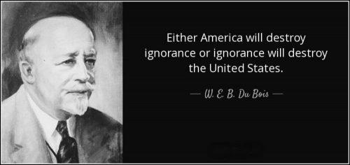 英语名言:要么美国摧毁无知,要么无知把美国摧毁。