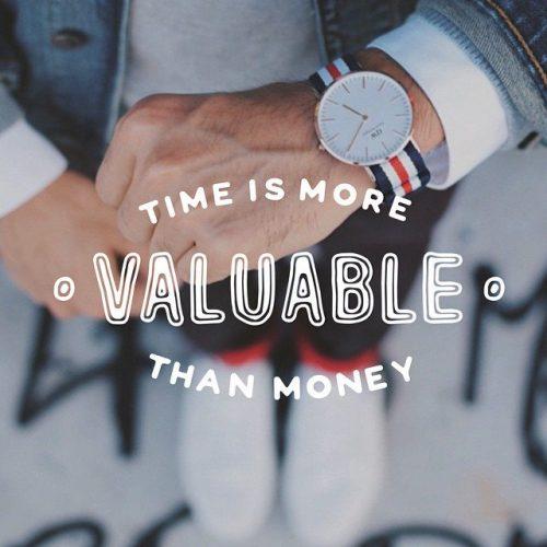 英语名言:时间比金钱更有价值。