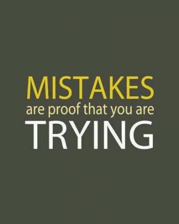 英语名言:犯错证明你仍在尝试。