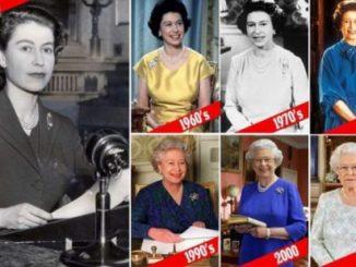 伊丽莎白女王各时期照片