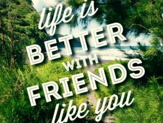 Life is better with friends like you.