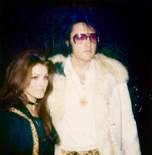 Elvis and Priscilla Presley celebrating New Years Eve in Memphis, TN, December, 1970.