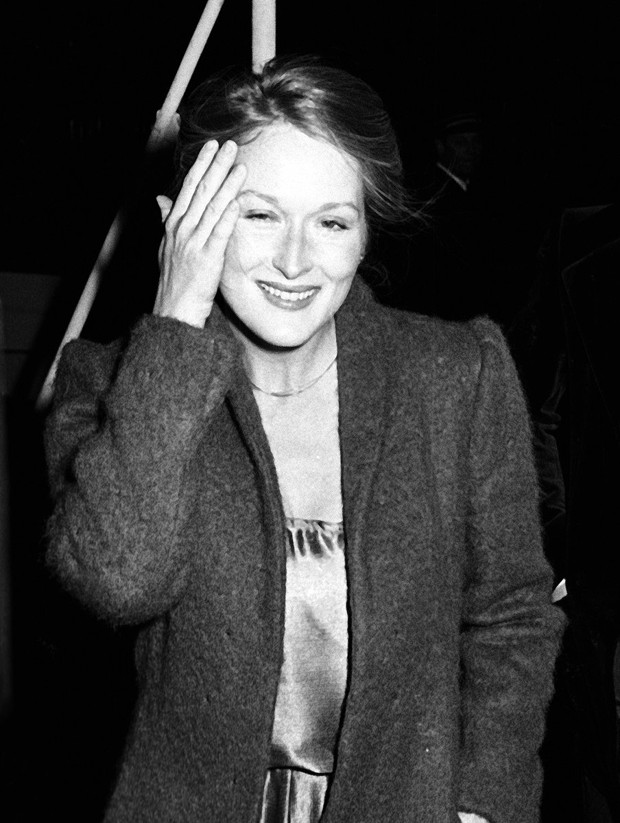Meryl Streep attends Woody Allen's New Years Eve's Party in 1979