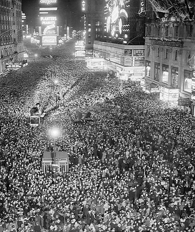 Times Square, New Year's Eve, 1937