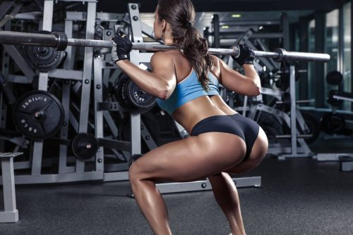 你还没瘦就因为只知道用exercise说锻炼_深蹲美女