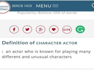 翻译探究 | Character actor是什么演员?