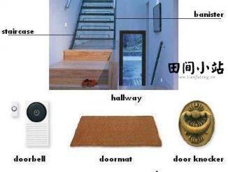 图说英语词汇   关于楼梯及门栓的英语词汇