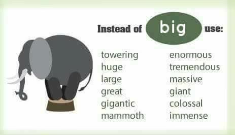 代替big的英语词汇