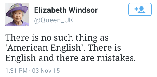 There is no such thing as 'American English'. There is English and there are mistakes.