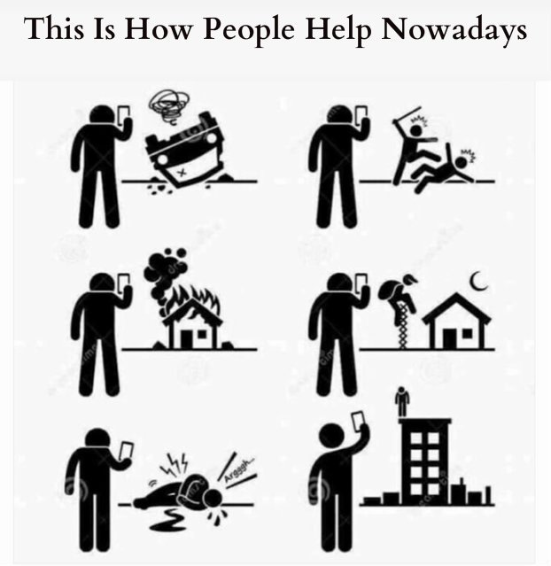 This is how people help nowadays
