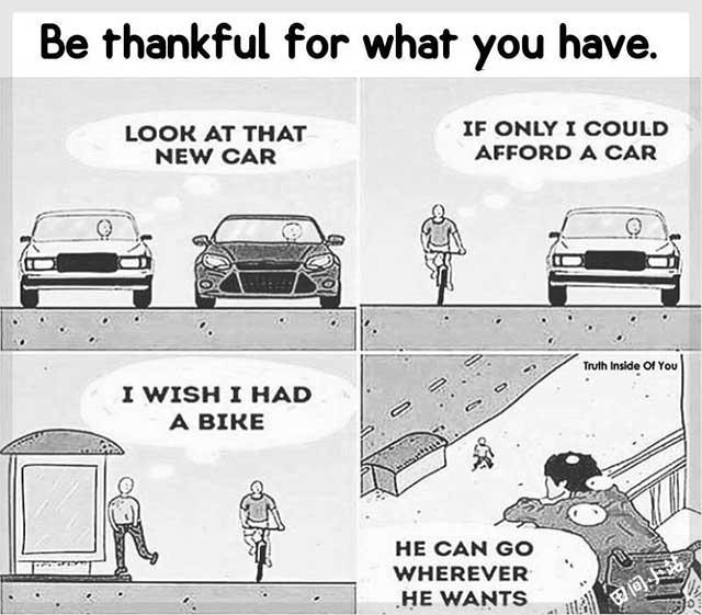 英语漫画 | 学会对已有的一切心怀感恩