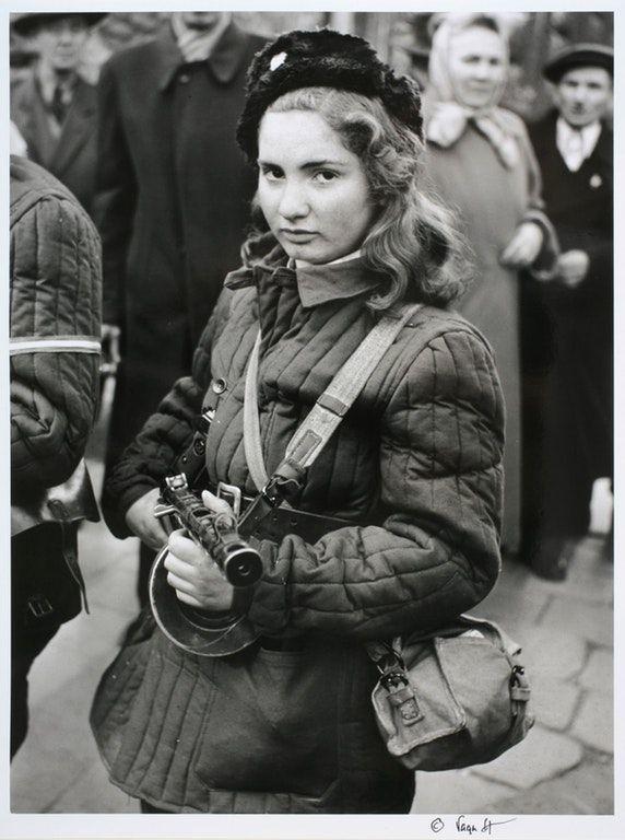 Erika, 15-year-old Hungarian anti-Soviet rebel, 1956