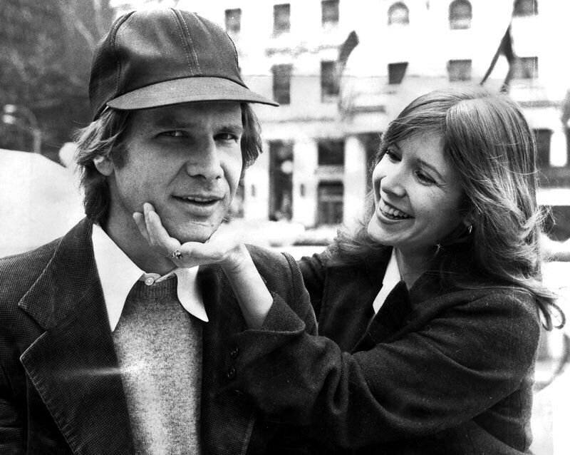 Harrison Ford and Carrie Fisher, 1980s