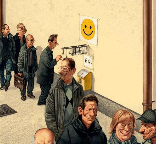 People nowadays like or have to fake smiles