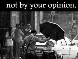 The world is changed by your example, not by your opinion