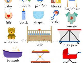 图说英语词汇   常见婴幼儿用品词汇一览