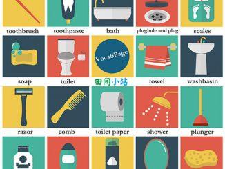 图说英语词汇 | 卫生间常见洗浴用品英语词汇一览表
