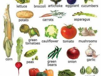 图说英语词汇 | 家庭厨房各类蔬菜英语词汇一览表