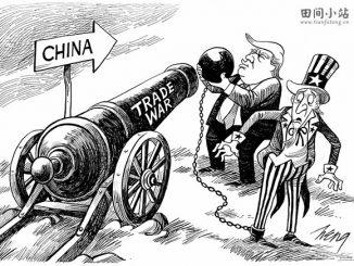 英语漫画 | 特朗普的对华贸易战重挫美国 Trump's Misguided Trade War
