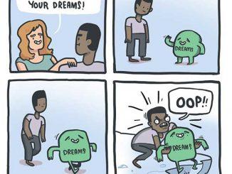 英语漫画 | 你必须跟着梦想走 You must follow your dreams