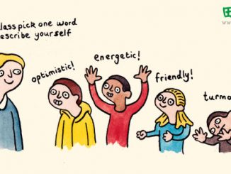 英语漫画 | 一个词形容自己 one word to describe yourself