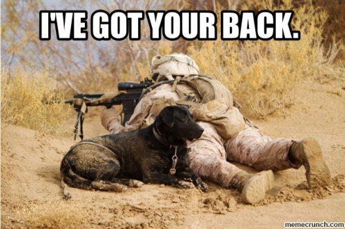 """英语口语   用I got your back表达""""我支持你,我会照顾你,我会保护你"""""""
