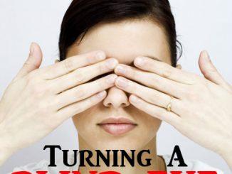 """英语口语   用turn a blind eye表达""""假装看不见,熟视无睹,视而不见"""""""
