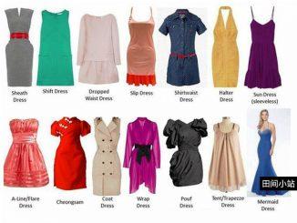 图说英语词汇 | 各类常见女裙英语名称中英对照