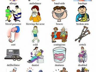 图说英语词汇 | 关于生病就诊运动健身等的英语词汇中英对照