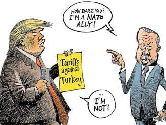 英语漫画 | 特朗普为何敢制裁北约盟国土耳其?