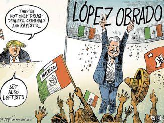 英语漫画 | 特朗普眼中的墨西哥新总统奥布拉多