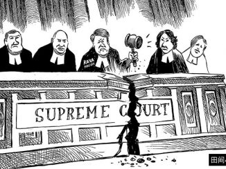 英语漫画 | 分裂的美国最高法院 The Supreme Court, Divided in Anger