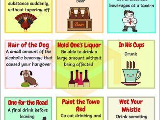图说英语词汇 | 9个与喝相关的英语习语
