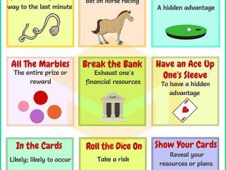 图说英语词汇 | 9个与赌博相关的英语习语