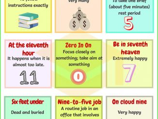 图说英语词汇 | 9个与Numbers(数字)相关的英语习语