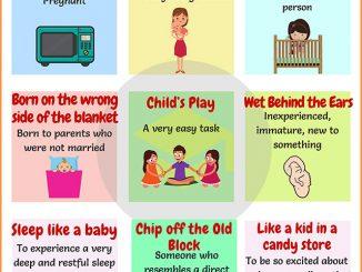 图说英语词汇 | 9个与儿童与婴儿相关的英语习语