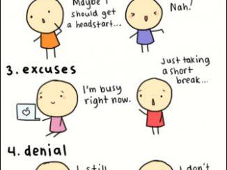 英语漫画 | 拖延症(procrastination)的六个典型阶段