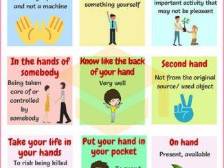 图说英语词汇 | 9个与手相关的英语习语