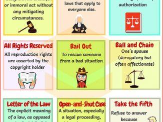 图说英语词汇 | 9个与法律相关的英语习语
