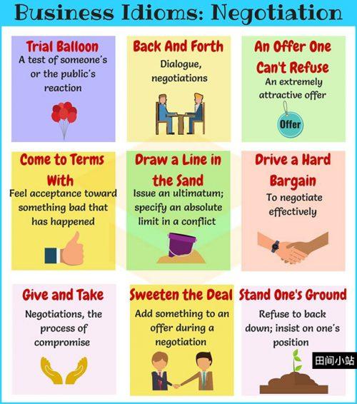 图说英语词汇 | 9个与协商谈判相关的英语习语