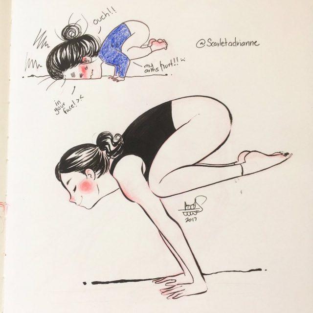 英语漫画 | 别人做瑜伽 vs 我做瑜伽