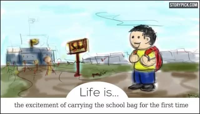 英语漫画 | 刷爆了国外朋友圈:人生的意义