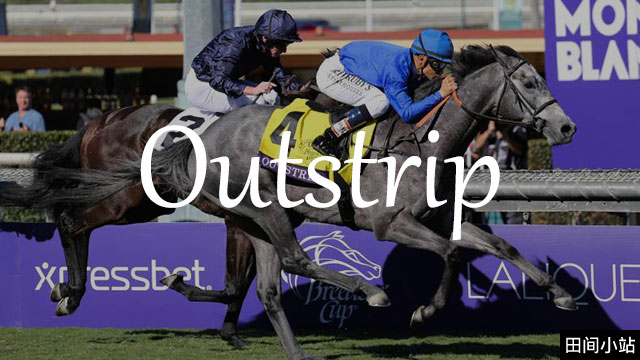 小词详解   outstrip (在数量、程度或成就上)超过或胜过