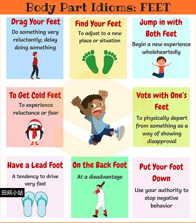 图说英语词汇 | 8个与脚相关的英语习语