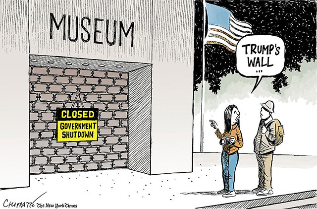 英语漫画   特朗普的墙究竟长什么样?