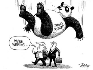 英语漫画 | 你确定能赢中国吗,总统先生?
