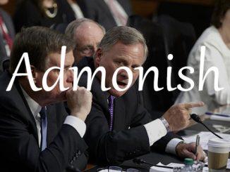 小词详解   admonish 严正地警告或斥责