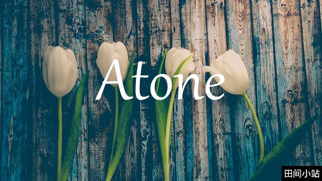 小词详解   atone