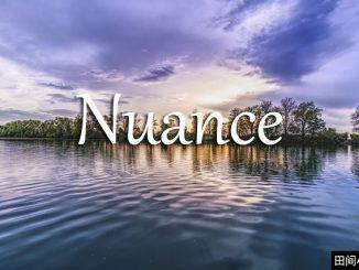 小词详解 | nuance