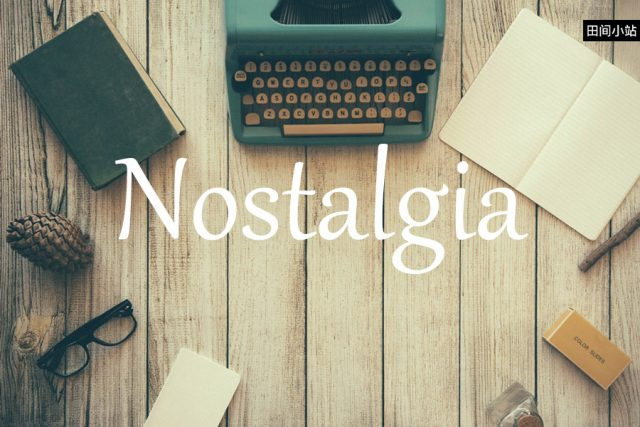 小词详解   nostalgia
